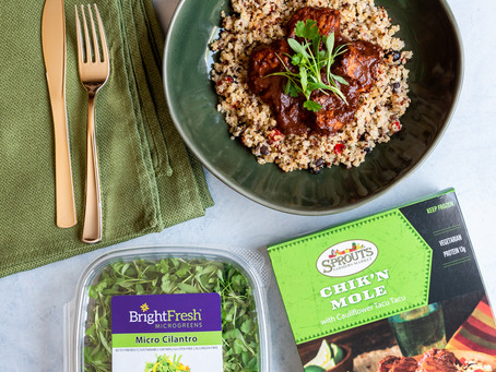 Elevate Sprouts Farmers Market Delicious Boxed Dinners with BrightFresh Microgreens