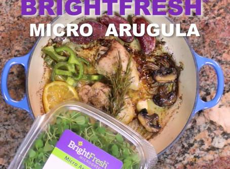 Micro Arugula Microgreens and One Pot Chicken - the perfect combo!