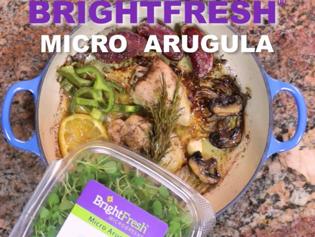 Micro Arugula Microgreens and One Pot Chicken - the perfect combo!