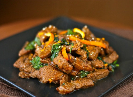 Spicy Clementine Beef Stir-Fry with Micro Broccoli