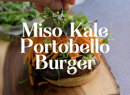 Spicy Miso Kale Portobello Burger