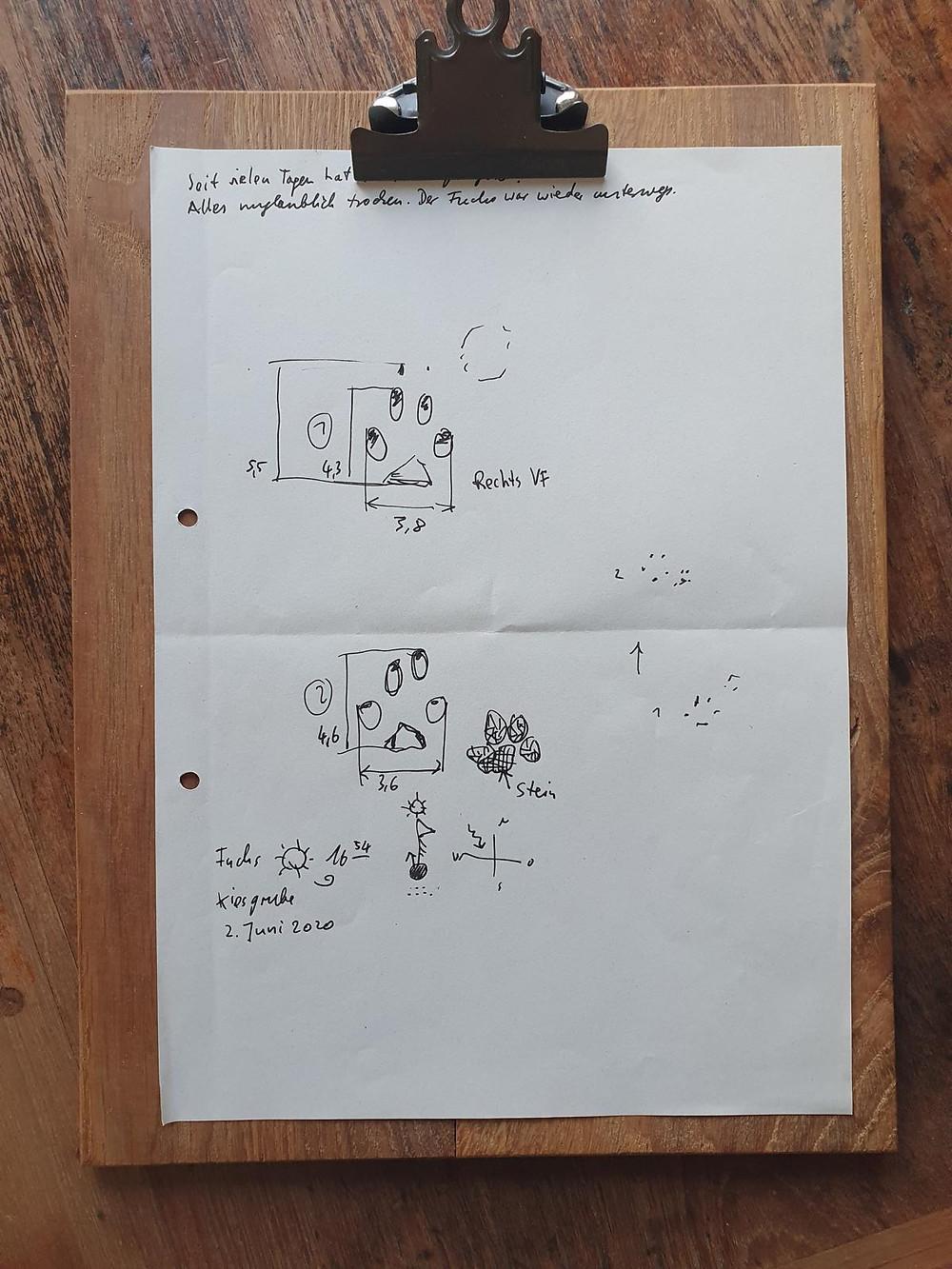 Journaling mit einem Klemmbrett