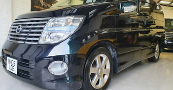 """2005 NISSAN ELGRAND - £7, 795  3.5 Highway Star Edition V6  - Automatic - 3.5 L - MPV - Petrol - 5 Doors - 8 Seats  Newly arrived from Japan!  Switchable four-wheel drive with differential lock  Auto-side opening door with soft closure  Includes; privacy limo-tinted glass, reverse and blind spot cameras, soft closure tailgate, 2 keys with keyless entry/go.  Highway Star bodykit with 17"""" Light Alloy wheels and matching tyres"""