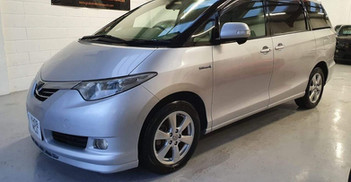 """2008 TOYOTA ESTIMA - £6,895  2.4VVTI Hybrid Technology 4x4  - Automatic - 2.4 L - MPV - Hybrid, Petrol, Electric - 5 Doors - 7 Seats  Brilliant looking vehicle, superb driving experience  4, 7, and 8 seater configuration choices   Includes; glass panoramic sunroof, captain chairs, Toyota overmats, 17"""" alloy wheels, sport roof spoiler  Twin electrically-operated side sliding doors  Undergone and passed battery health check"""