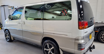1997 NISSAN CARAVAN - £3,295  - Turbo-diesel - 8 Seats - Full MOT  Rare sunroof model in great condition!  Features aftermarket alloy wheels, a new prop-shaft fitting, new tyres!  Drives really well! Contact us for more information!