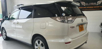 2006 TOYOTA ESTIMA - £6,995  2.4 VVTI Hybrid Technology E-4x4  - Automatic - 2.4 L - MPV - Hybrid, Petrol, Electric - 5 Doors - 8 Seats  Fantastic family MPV, newly imported from Japan  Rare electric remote tailgate with one-touch closure  Electrically operated third row fold-away seats, creating wide boot space  Also includes; front, rear, and side cameras, reverse parking sensors, four wheel drive, economical hybrid engine with efficient battery power, electronic one-touch side sliding doors  Unmarked Polar White paintwork