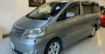 2007 TOYOTA ALPHARD - £6, 795  2.4 VVTI V-spec Facelift  - Semi-automatic - 2.4 L - MPV - Petrol - 5 Doors - 8 Seats  Fresh Japanese arrival  V-spec 2.4 VVTI  Facelift with revised dash and body styling Fitted with digital mph clock for UK roads  Includes: one-touch tailgate closure, electrically operated twin sliding side-doors with hand held remote control, genuine Toyota alloy wheel, reverse and side camera