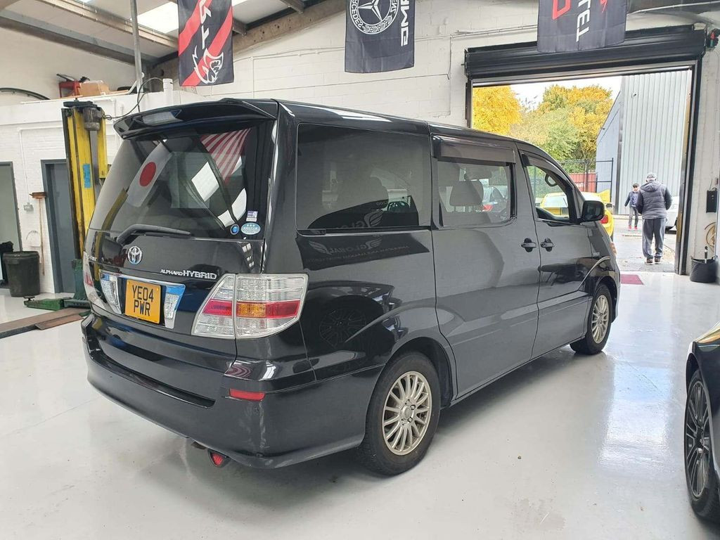 2004 TOYOTA ALPHARD - £6,895  2.4 Hybrid Four Wheel Drive  - Automatic - 2.4 L - MPV - Hybrid, Petrol, Electric - 5 Doors - 8 Seats  Economical Hybrid with electronic four wheel drive, fantastic driving experience  Front, side, and reverse camera  7 seater with middle-row swivel captain chairs  Includes; alloy wheels, air conditioning, adaptive cruise control, DVD player, Toyota overmats, privacy glass