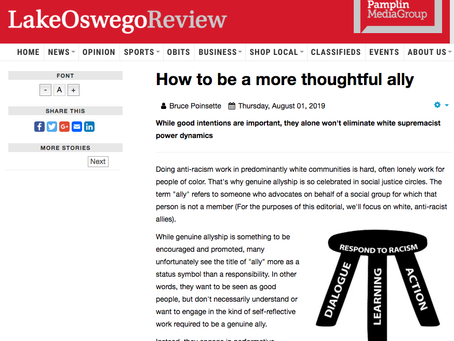 Latest LO Review Column Addresses Thoughtful Allyship