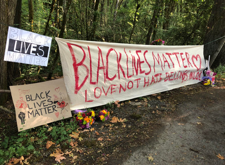 Community responds to racist sign with message of support for Black Lives Matter