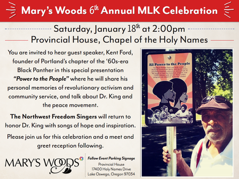 EVENT: Mary's Woods 6th Annual MLK Celebration to Feature Portland Black Panther's Founder K