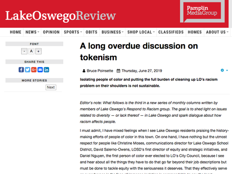 Latest LO Review Column Sheds Light on Tokenism