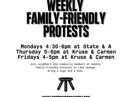 Family-Friendly Protests Every Week