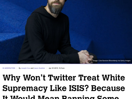 This Week's 5: Twitter's Terrible, Horrible, No Good, Very Bad Excuse for Protecting White Supremaci