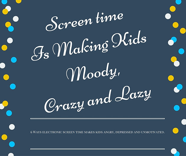 Screentime Is Making Kids Moody Crazy >> Screentime Is Making Kids Moody Crazy And Lazy Photographer