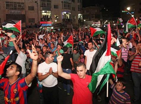 Palestinian soccer delegation's own goal