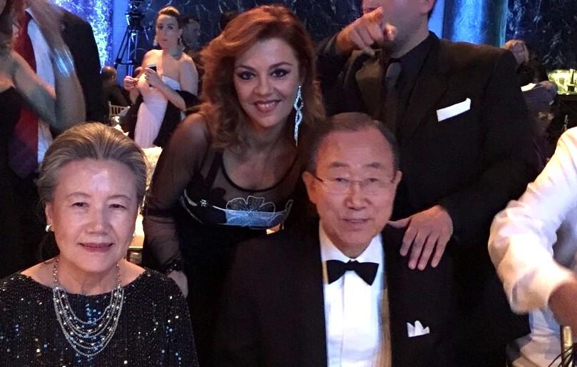 Barbara Benedettelli, Ban Ki-moon e signora