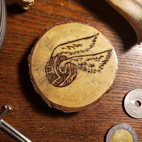 Golden Snitch (HP) Pine Magnet