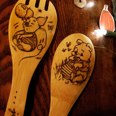 Winnie and Piglet spoons