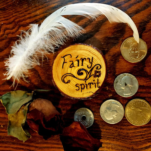 Fairy Spirit Pine Wood Magnet