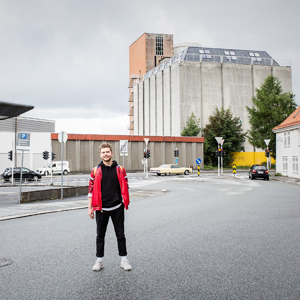 Arkitektstudent Bastian Haukefær
