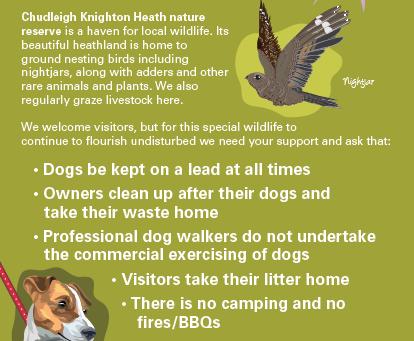 Dogs must be on a lead on Chudleigh Knighton Heath