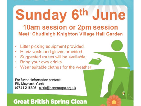 Great British Spring Clean - Sunday 6th June