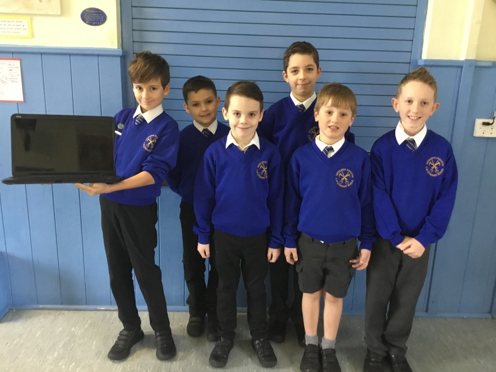 CK School Council accepting laptop 15.1.