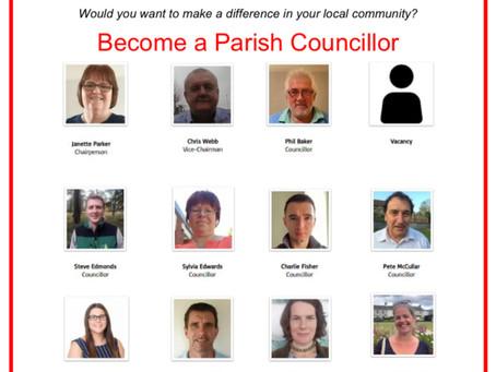 Vacancy on Hennock Parish Council