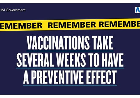Vaccinations take several weeks to have a preventive effect