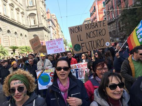 La grande onda per il Clima #FridaysForFuture #Napoli