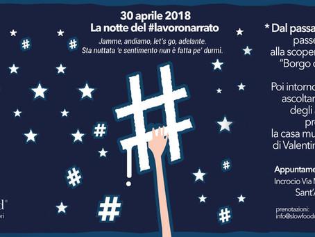 30 aprile - la Notte del #lavoronarrato ritorna a Sant'Agnello