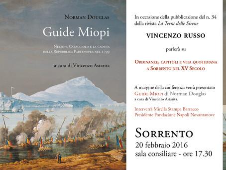 Presentazione di Guide Miopi a Sorrento