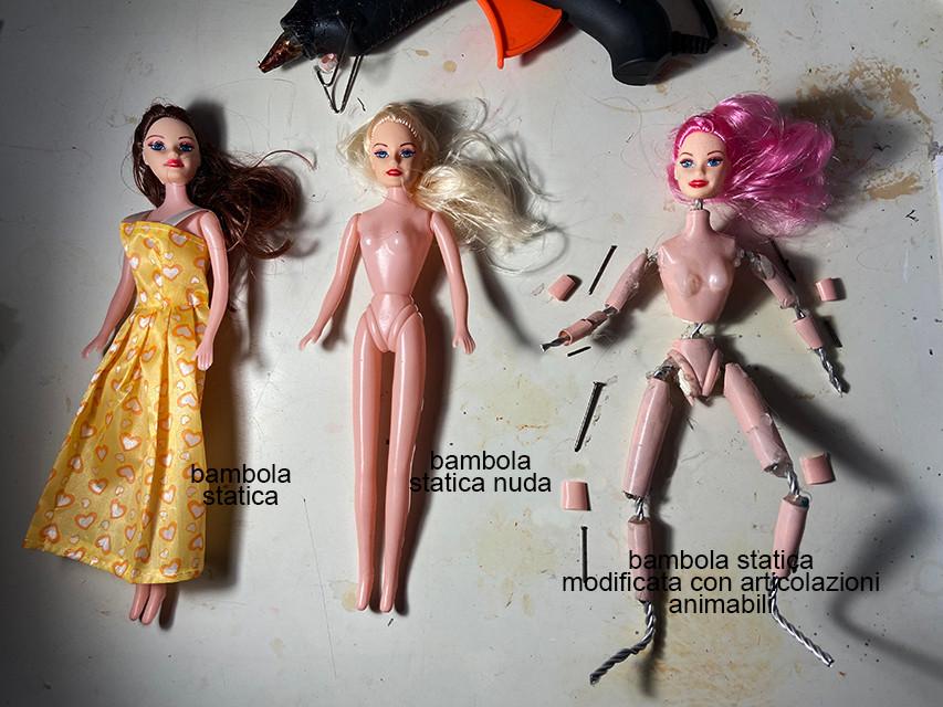 Aggiunta di articolazioni ad una bambola esistente