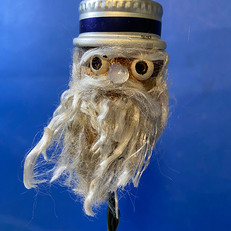 Testa con barba e cappello