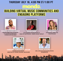 Building Virtual Music Communities and Engaging Platforms