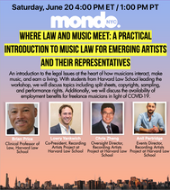 Where Law and Music Meet: A Practical Introduction to Music Law for Emerging Artists and their Representatives