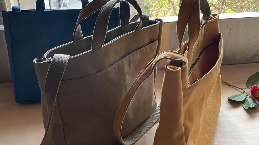 草木染め帆布鞄