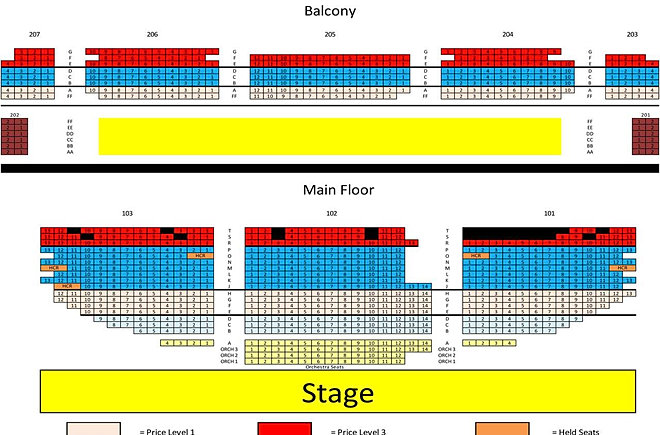 Arcada Theatre Seating Chart Car Interior Design