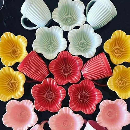 Bowls Flores colorido (6 unidades)
