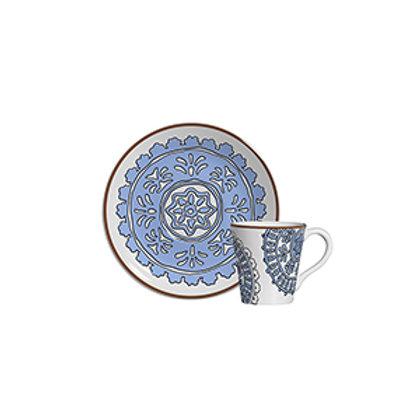 Xícara de Café c/p Hamptons Azul (6 Peças)