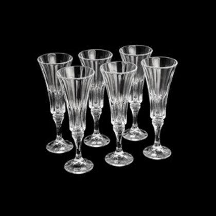 Taças para Champagne de cristal ecológico (6 unidades)