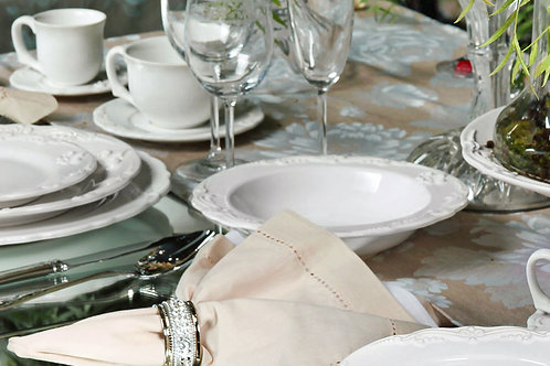 Aparelho de Jantar - Flor De Lis Branco (42 peças)