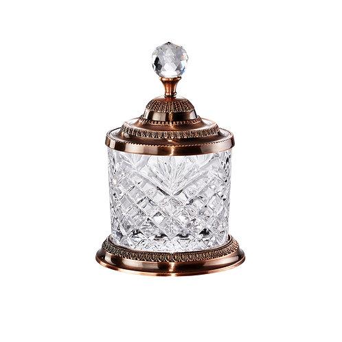 Pote dourado multiuso cristal REF 3128