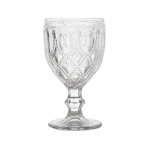 Taça de vidro para água clear