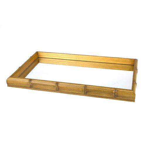 Bandeja Bambu com Espelho
