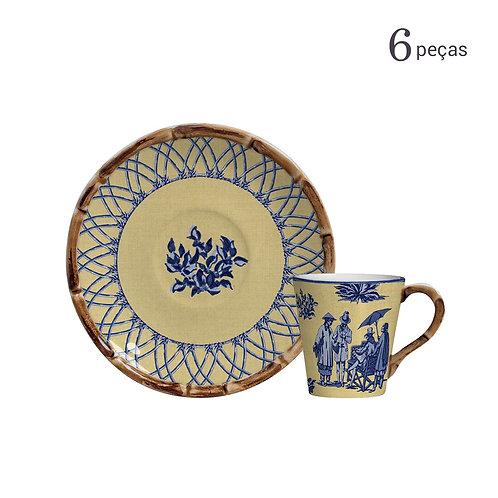 Xícara de Chá Café Colonial (6 unidades)