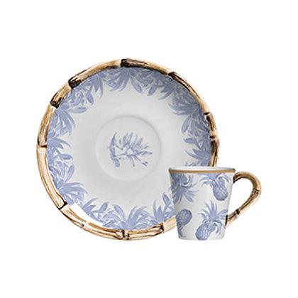 Xícara de Café c/p de Azul (6 Peças)