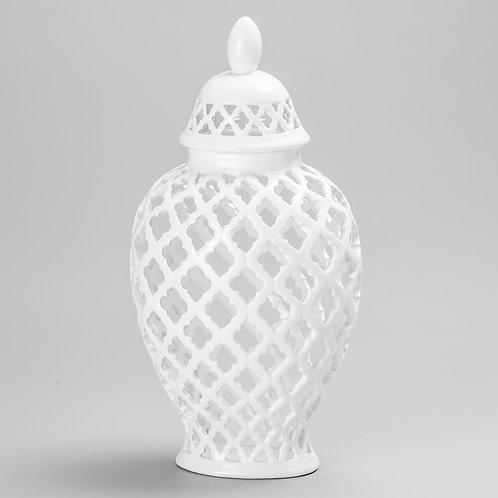 Potiche oval de porcelana M REF 8095
