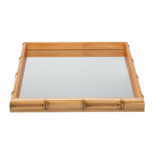 Bandeja Bambu com Espelho MEDIO